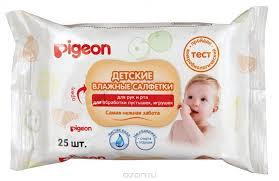 <b>Pigeon Салфетки влажные детские</b>, 25 шт — купить в интернет ...