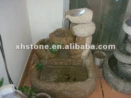 Fontana Cascata Da Giardino : Granito e pietra mano intagliato elettrico illuminato a led