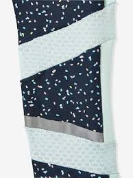 Sports <b>Leggings for Girls</b>, <b>Printed</b>, Techno Details - blue dark all over ...