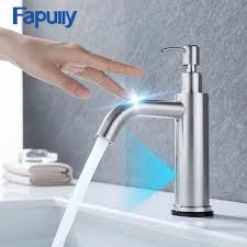 <b>Fapully</b> New Design Smart Touch Control Basin Faucets Chrome ...