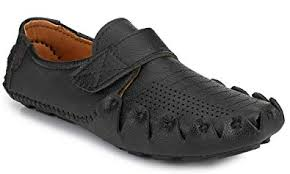 Shoe Rider <b>Handstitched</b> Men's <b>Black Synthetic Leather</b> Casual Loafer