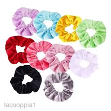 <b>10pcs</b> Velvet Scrunchies Rubber Hair Band Stretch Hair Tie Bobbles ...