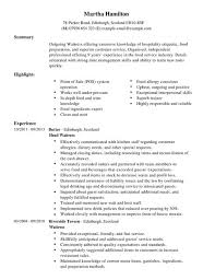 resume example   waitress cv example london  waitress cv example    waitress cv example london waitress cv examples