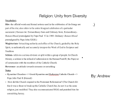 essay on unity in diversity of jfc cz as