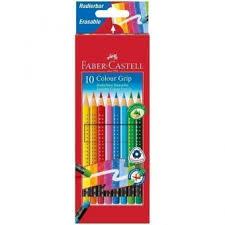 "<b>Карандаши цветные</b> стираемые <b>Faber</b>-<b>Castell</b> ""Grip"", <b>10</b> цветов"