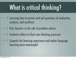 Relationship between the critical thinking and the problem solving concepts  Part   of    The Montessori Message