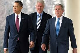 Image result for bush, obama, and military