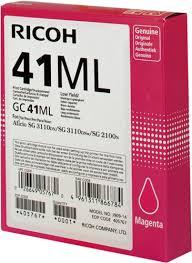 <b>Картридж Ricoh GC</b> 41ML пурпурный, <b>гелевый</b> оригинальный