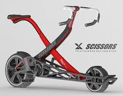 Scissors.It's a <b>new style folding</b> bike that you can go anywhere and ...