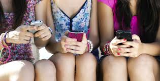 Image result for teen on cellphone