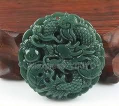 Beautiful <b>Natural Green HeTian</b> Jade Carved Chinese Dragon ...