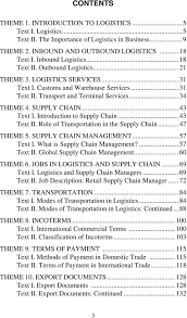 professional english for students of logistics pdf introduction to supply chain 43 text ii role of transportation in the