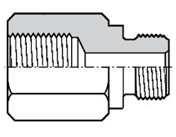 <b>Адаптер</b> с <b>внутренней</b> и наружной резьбами NPT (F) и G (M)