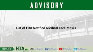 FDA Advisory No. 2020-1181 || List of FDA Notified Medical <b>Face</b> ...