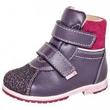 <b>Ботинки</b> детские <b>Лель</b> 2-819 черника (кожа) для <b>девочек</b>