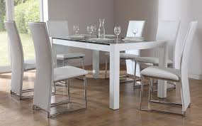 dining table white legs