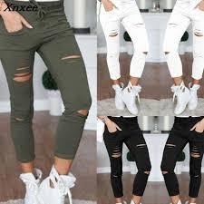 2019 <b>New 2018</b> Skinny Jeans Women Denim Pants Holes ...