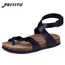 <b>FeiYiTu Male</b> Fashion Cork Sandals 2017 <b>New Men</b> Casual ...