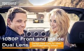 TOGUARD Uber Dual Len Dash Cam IR Night Vision HD 1080P ...