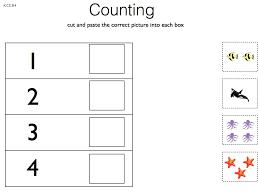 Prek/Kinder Math Cut and Paste Worksheets | Early Childhood Learningm2.009-001