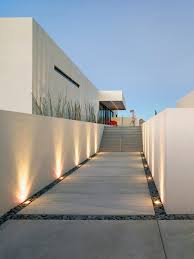 exterior design modern landscape gardening ideas with adorable floor lights concept also concrete floor with awesome modern landscape lighting design ideas bringing
