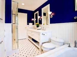 how to paint a small bathroom using white shed gail drury blue bath tilejpgrendhgtvcom using white shed