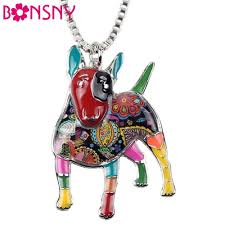 <b>Bonsny Statement</b> Maxi <b>Alloy Enamel</b> Bull Terrier Choker Necklace ...
