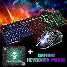 T6 Rainbow Backlight Usb Ergonomic Gaming Keyboard and ... - Vova