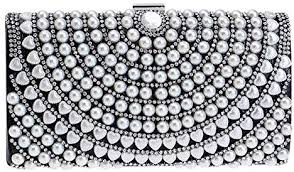 Perfect Home <b>Women's Pearl Tassel Fashion</b> Party Evening Bag ...