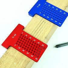 t type woodworking scribe gauge crossed ruler mark line precision measuring tools aluminum alloy scriber for carpenters