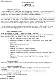 sales assistant cv example   icover org uk