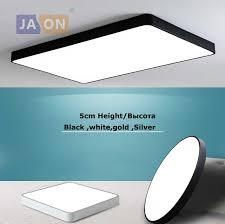 <b>LED Modern Iron Acryl</b> 5cm Thin Square Black White Gold Silver ...