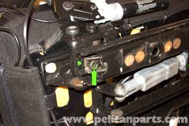 then working at the back of the seat rail remove the t45 adjuster bolt bmw z3 seat rail bushing