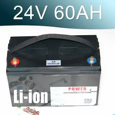 <b>24V 60AH Lithium ion</b> Battery 25.9V Li ion Waterproof IP68 Box for ...