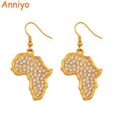 <b>Africa</b> Map Earrings   Jackenjuul