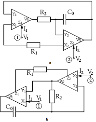 synthetic floating inductors realized with only two current on simple electrical circuit with inductor diagram