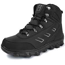 L-RUN <b>Men's Winter</b> Snow <b>Boots Outdoor Shoes</b> Anti-Slip Ankle