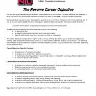 cover letter template for  objective resume examples  arvind coresume template  career objective examples marketing position free resume objective examples entry level  objective