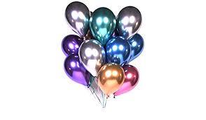Amazon.com: Party Balloons <b>12inch 10 Pcs Latex Metallic</b> Balloons ...