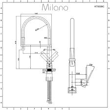 White Monobloc Kitchen Taps Milano Monobloc Kitchen Sink Basin Mixer Tap With Flexible Pull