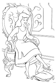 Small Picture Princess Coloring Pages Games Cinderella Page 17 Disney And Es