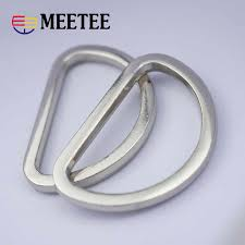 <b>4pcs Meetee</b> 20/25/30mm Metal O D Ring Buckle Bag Purse Strap ...
