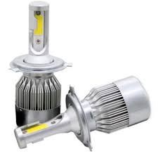 2Pc 72W COB H1 <b>C6 Car LED Headlight</b> Bulb Front Lights ...