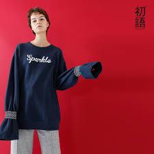 Toyouth Long Hoodie <b>Women Sweatshirt 2019 Autumn</b> Flare Sleeve ...