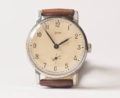 soviet wristwatch zim vintage men s watch brown leather watch soviet wristwatch zim vintage men s watch brown leather watch