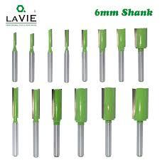 LAVIE <b>1pc 6mm Shank</b> Straight Bit <b>Tungsten</b> Carbide Single Double ...