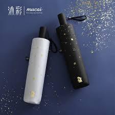 Hot Sale Folding <b>Umbrella Women</b> Anti UV <b>Sunscreen Black</b> ...