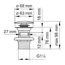 Купить <b>донный клапан WasserKRAFT</b> A080 <b>Push</b>-<b>up</b>, черный в ...