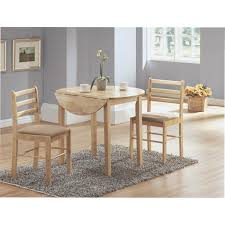 three piece dining set: natural  piece dining set with a quotdia drop leaf table i display gallery item  cappuccino  piece dining set