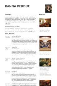 Interior Design Intern Resume Objective   Free Resume Builder